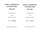 Early American Literature Volume 1 & 2